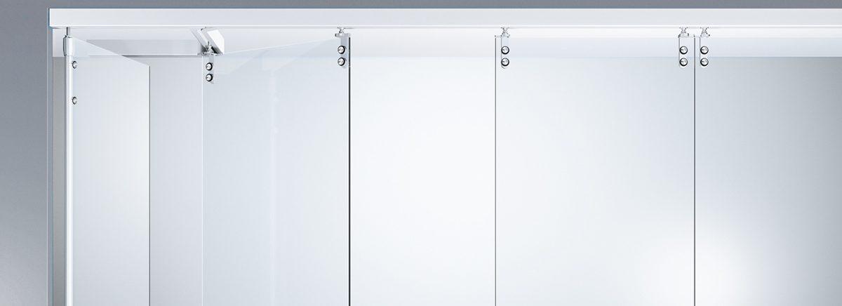 Стеклянные раздвижные автоматические двери