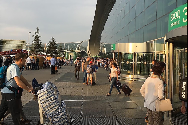 Карусельные двери KTC диаметром 6 м. Аэропорт Домодедово